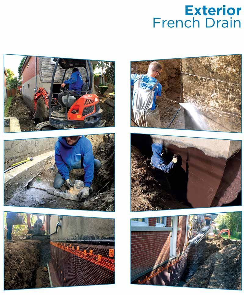 French Drains Inspection Cleaning And Installation Free Estimation Of Cost Montreal West Island South Shore Laval